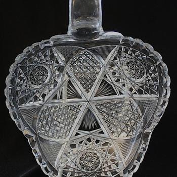 American Brilliant Cut Glass Nappy 1900 - Glassware