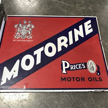 Motorine motor oil flange sign  - Petroliana