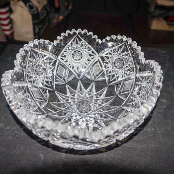 Cut Lead Crystal Bowl