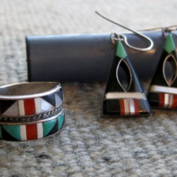 Favorite Zuni earrings and ring - not purchased together - Fine Jewelry
