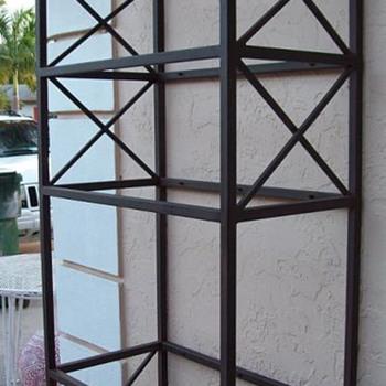 Mid Century Eterage - Iron & Glass - Archectural - Miminalist  - Furniture