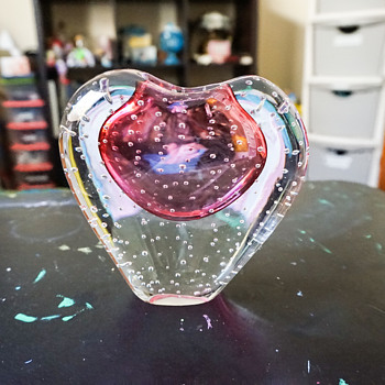 Murano??? Heart Vase - Art Glass