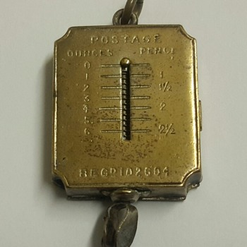 Victorian Combined Postage Scales and Stamp Holder Watch Fob - Pocket Watches