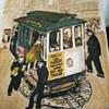 Vintage painting of San Francisco Street Car