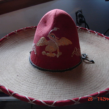 Antique Mexican Sombrero with Eagle Crest???
