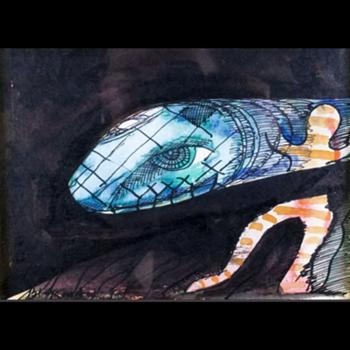 Charles Blackman. Serpent Dreaming - Fine Art