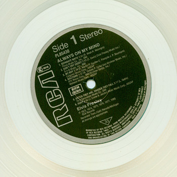 Always on my mind..Clear Vinyl from Germany