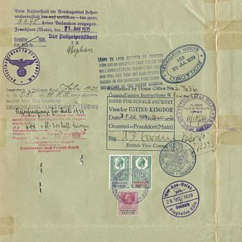 1939 Nansen Travel ID (passport) - Paper