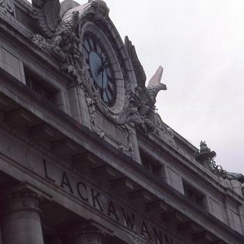 Facade of Scranton's Lackawanna RR Staion. - Railroadiana