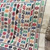 Hand woven, Hand embroidered Turkish symbols blanket, wall hanging, kilim, mat