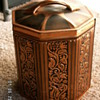 Vintage Paneled Tobacco Tin ~ Western Germany