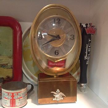 Budweiser clock  - Breweriana