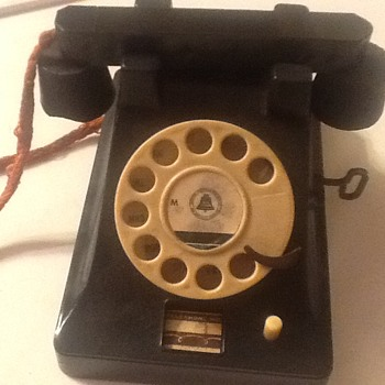 Old toy telephone