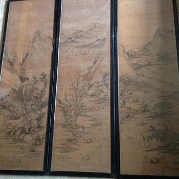 Chinese ink drawing vintage