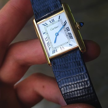 Cartier Tank Louis 1970 NYC Plaque Or G20m - Wristwatches
