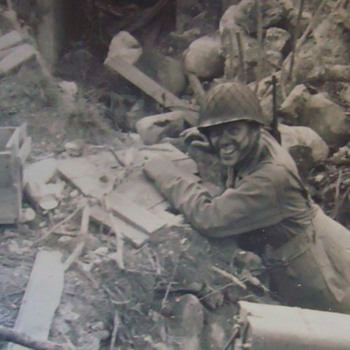 WW-2 Photos Attu, fighting Japan, Anybody know these brave men??? - Military and Wartime