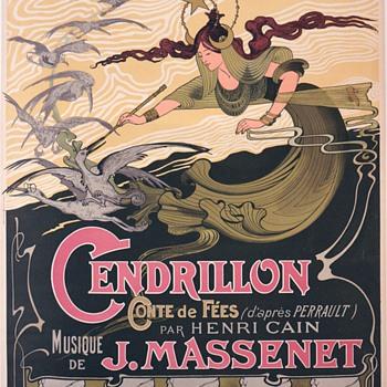 """1899 Emile Bertrand """"Cendrillon"""" French Opera Poster - Art Nouveau"""