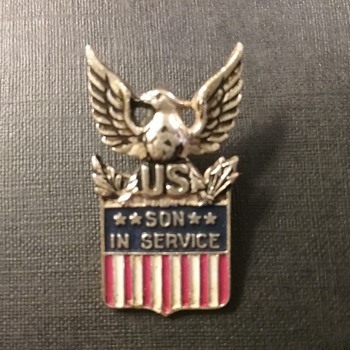 Coro Son in Service sterling pin  - Military and Wartime