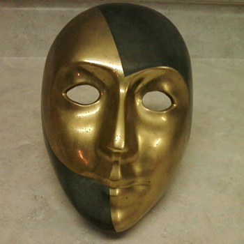 VENICIAN BRONZE MASK - Art Deco