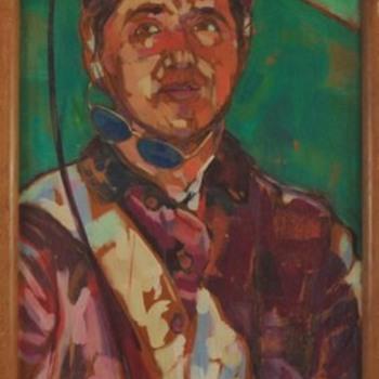 Jockey painting - Fine Art