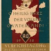 "1938 - ""VI. Nazi Congress Foreign Organization"" - Postcard"