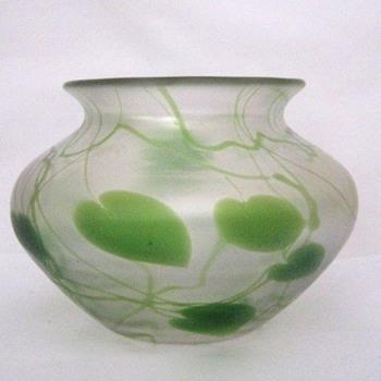 Extremely Rare Steuben New Intarsia Vase - Art Glass