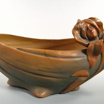 Antique Bloch Art Nouveau Pottery Figural Jardinier - Art Nouveau