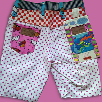 #18 ~ 1960's Deadstock Peter Max Psychedelic Pink Polka Dot Hot Pants - Fine Art