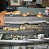 """vintage tin and cast iron train 29"""" long"""