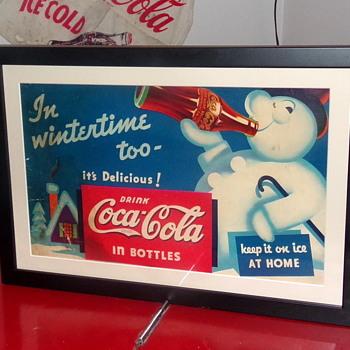 1935 Coca-Cola Cardboard Hanger Sign - Coca-Cola