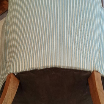 Petite or Child's ? Antique Chair Pinstripe Curved Back