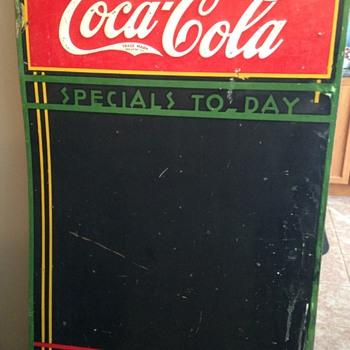 1934 Coca-Cola Menu Chalkboard - Coca-Cola