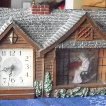 "Haddon Original ""Home Sweet Home"" Granny Clock mid-1950s - Clocks"