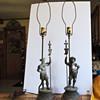 antique copper fiqurine table lamps