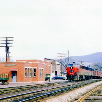 Tunkhannock, PA's Lehigh Valley Passenger Station. - Railroadiana