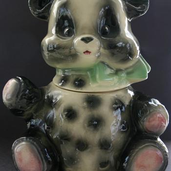 1950's Brush Pottery Panda Cookie Jar W21  - Kitchen