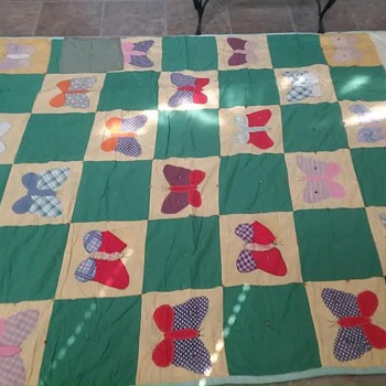 Quilt from 1940's - Butterflies
