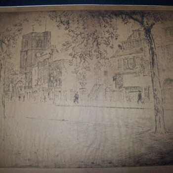 Joseph Pennell Etching - Fine Art