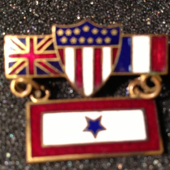 """Over There"" pin - Military and Wartime"