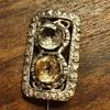 Old silver brooch