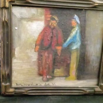 Rare small painting