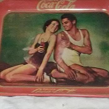 1934 CocaCola Serving Tray. Original?, - Coca-Cola