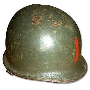 WW2 US M1 helmet (1st Infantry Division) - Military and Wartime