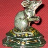 Vintage Cast Iron Mouse Doorstop