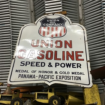 Union Gasoline, Speed & Power Curb Sign - Petroliana