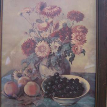 FLOWER PICTURE - Folk Art