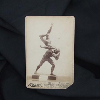 Artist Identification on Wrestlers Bronze