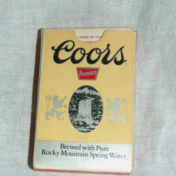 Vintage Coor's Playing Cards