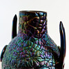 Detail pictures sof Thomas Webb & sons bronze vase (1878). Christopher Dresser, attr.