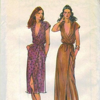 The classic wrap dress one of my favorite styles of dress - Sewing